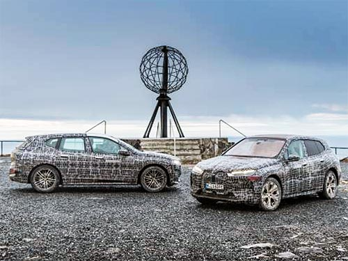 BMW iX проходит финальные зимние испытания - BMW