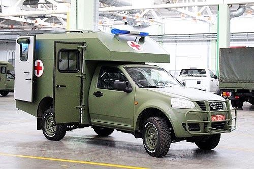 Военные получили первую партию обновленных санитарных Богдан 2251