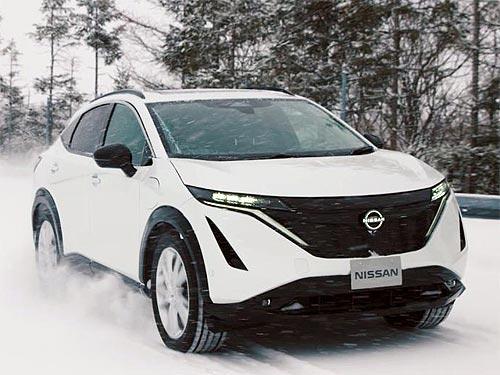 Как в Nissan тестировали новый электрический кроссовер Nissan Ariya