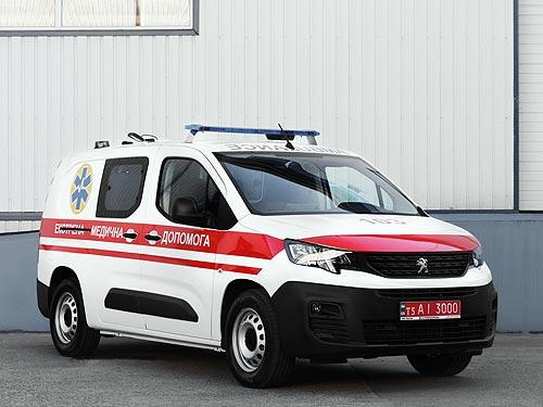 В Украине выпустили компактный медицинский автомобиль на базе PEUGEOT Partner
