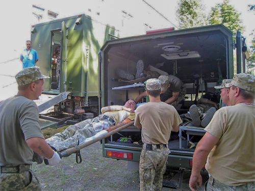 Медицинские Богдан 2251 задействовали в междунарожных занятиях - Богдан