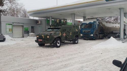 Бронеавтомобиль Богдан Барс-8 прошел испытания в снегопад