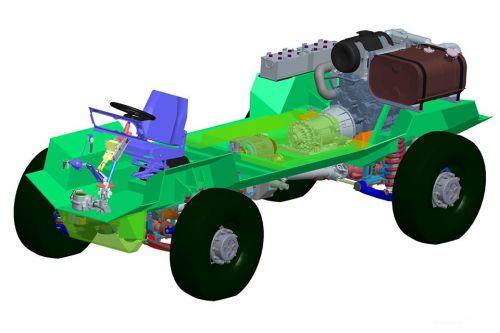 КрАЗ разработал универсальное шасси 4х4 для бронетехники
