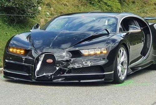 В Швейцарии произошло самое дорогое ДТП года - Bugatti