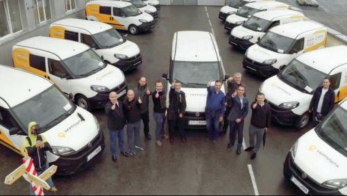 Укрпочта получили заключительную партию из 100 фургонов Fiat Doblo для передвижных отделений - Fiat