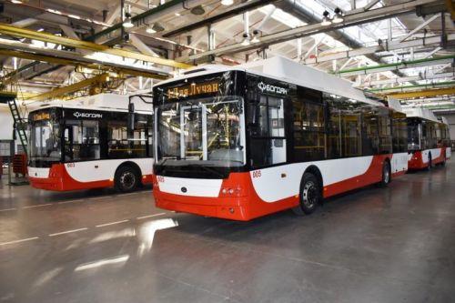 Луцк получил очередную партию троллейбусов Богдан Т70117 - Богдан