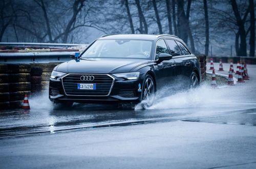 Audi научилась бороться с эффектом аквапланирования на ранней стадии