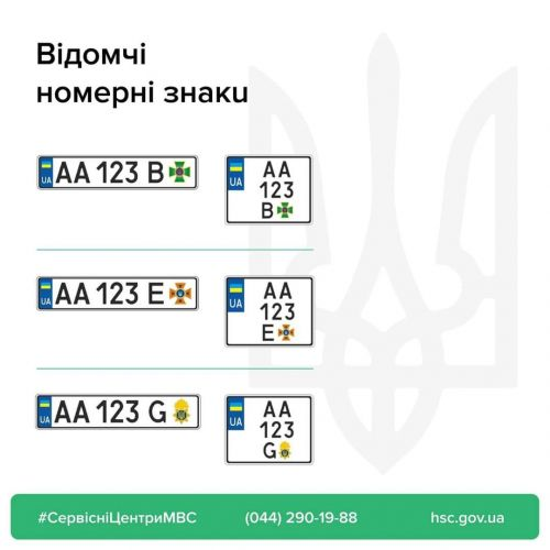 В Украине заменят номерные знаки для авто ВСУ, Нацгвардии и пожарных