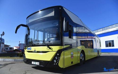 Автобус МАЗ 303 нового поколения  выполнил свой первый рейс