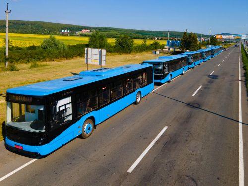 Ужгород получил 7 новых автобусов «Электрон» и закупит еще 10 электробусов