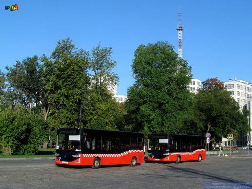 На маршруты в Харькове сегодня вышли автобусы Karsan