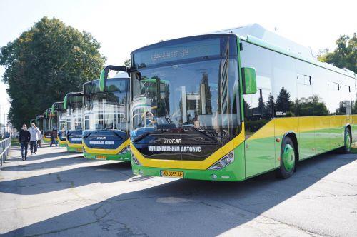 На улицы Винницы сегодня вышли муниципальные автобусы Otokar