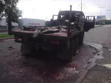 В ходе вчерашних боев в Донецке пострадали автосалоны