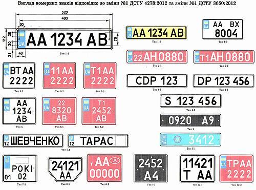 В Украине появились новые серии автомобильных номеров - номер