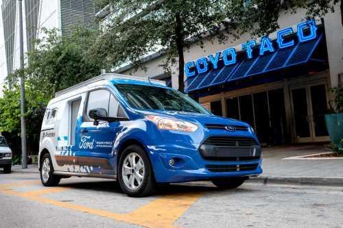Ford тестирует беспилотный коммерческий автомобиль для доставки - Ford