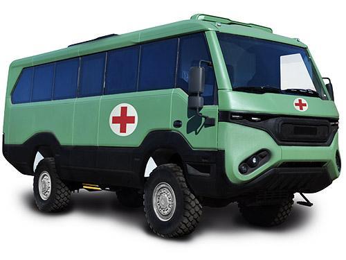 В НацГвардию Украины уже поставлены 3 медицинских автобуса Torsus