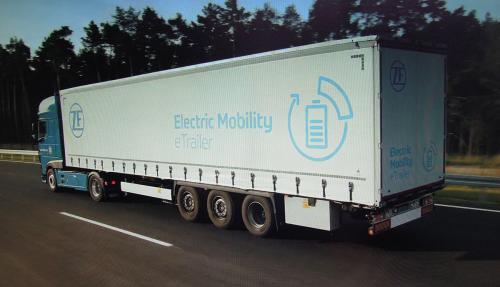 ZF представила полуприцеп с электроприводом, который экономит 16% топлива у тягача - полуприцеп