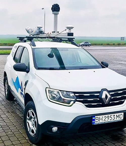 В Украине появился первый цифровой сканер автодорог на автомобильном шасси