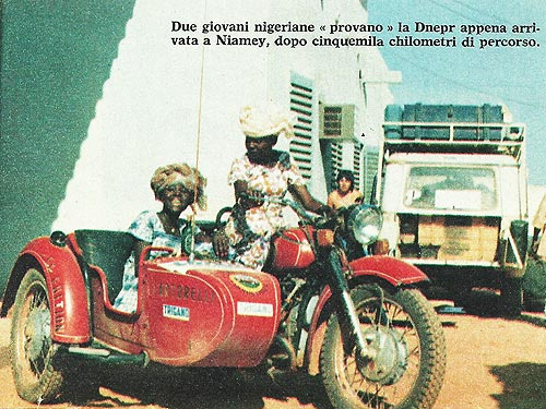 Украинский мотоцикл Днепр пересек пустыню Сахара задолго до ралли Париж-Дакар - Днепр