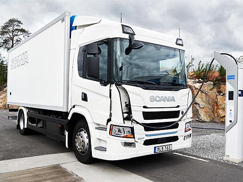 Scania представляет новый гибридный грузовик с запасом хода 60 км на электротяге