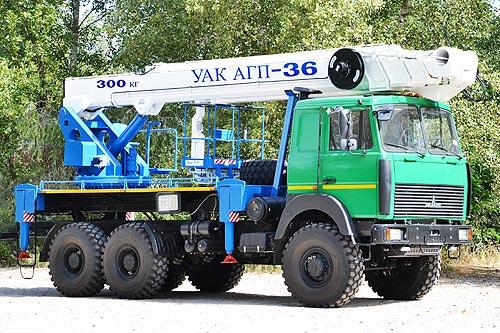 В Украине выпустили автогидроподъёмник УАК АГП-36 на шасси МАЗ 6317 6х6